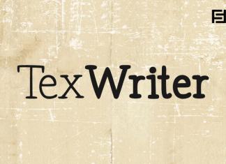 Tex Writer Font