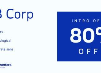 EB Corp Font Family Font
