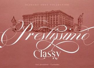 Prestissimo Classy Font