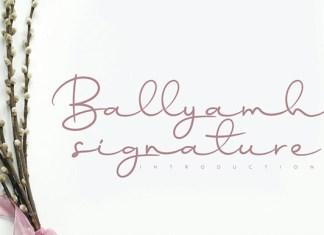 Ballyamh Signature Font