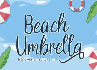 Beach Umbrella Font