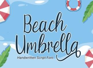 Beach Umbrella Font