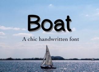 Boat Font