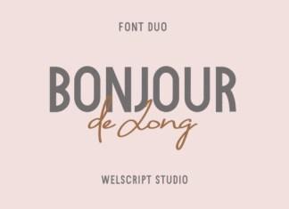 Bonjour De Jong Font
