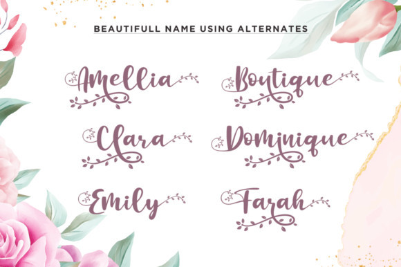 Botanical Flourish Font