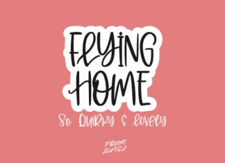 Flying Home Font