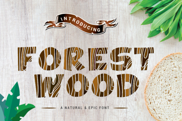 Forest Wood Font