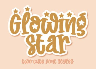 Glowing Star Font