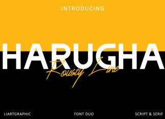 Harugha Rousty Line Font