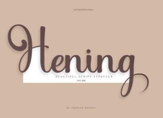 Hening Font