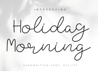 Holiday Morning Font