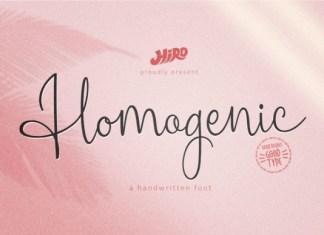 Homogenic Font