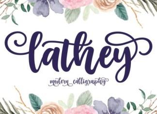 Lathey Font