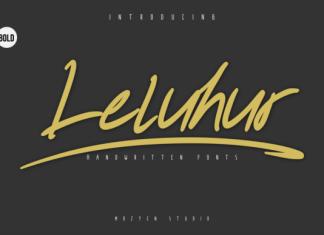 Leluhur Bold Font