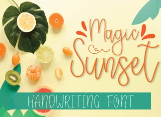 Magic Sunset Font