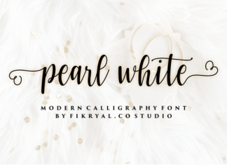 Pearl White Font