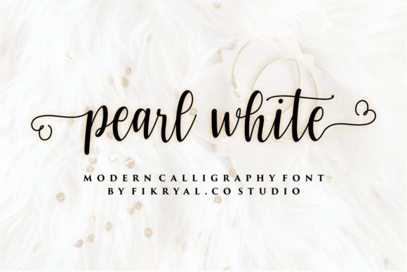 Pearl White Font