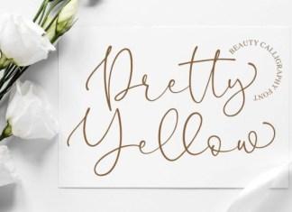 Pretty Yellow Font