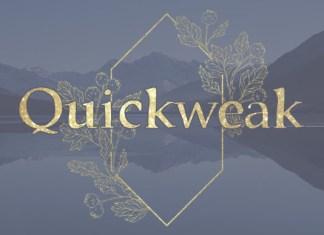 Quickweak Font