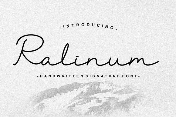 Ralinum Font