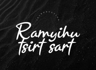 Ramyihu Tsirt Sart Font