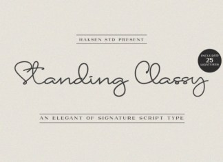 Standing Classy Font