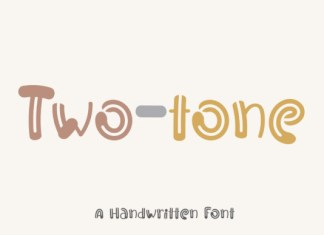 Two tone Font