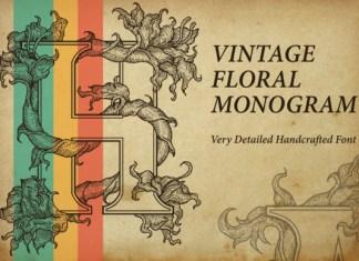 Vintage Floral Monogram Font