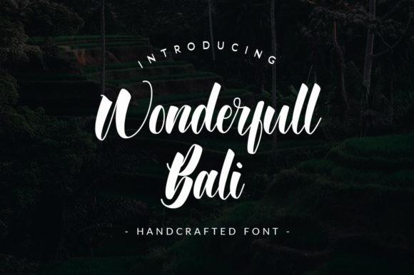 Wonderfull Bali Font