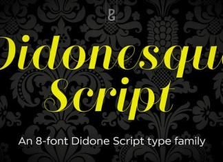 Didonesque Script Font