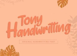 Tony Handwritting Font