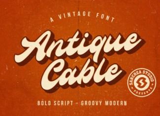 Antique Cable Font
