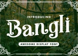 Bangli Font