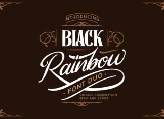 Black Rainbow Font