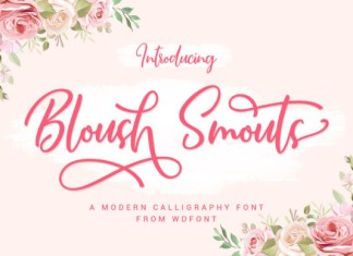 Bloush Smouts Font