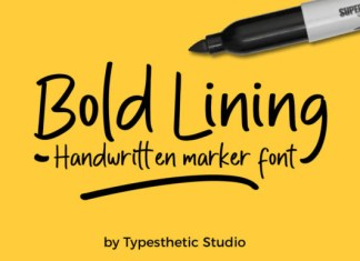 Bold Lining Font