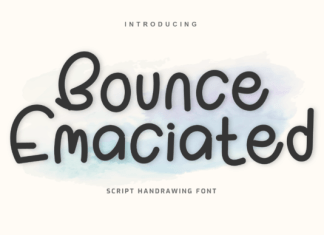 Bounce Emaciated Font