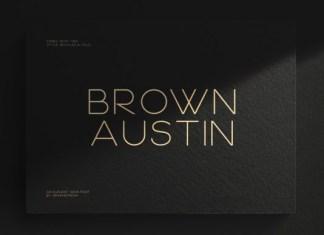 Brown Austin Font