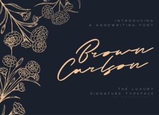 Brown Carlson Font
