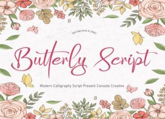 Butterly Script Font