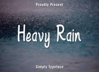 Heavy Rain Font