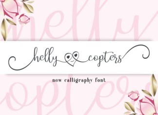 Helly Copters Font