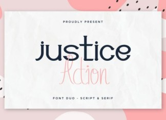 Justice Action Font