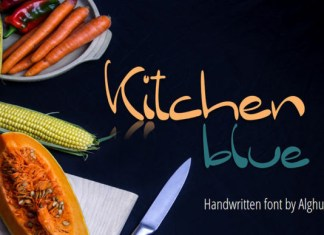 Kitchen Blue Font