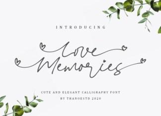 Love Memories Font