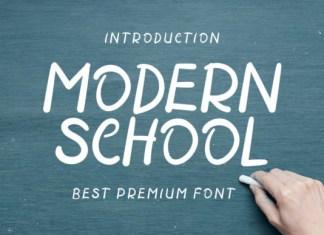 Modern School Font
