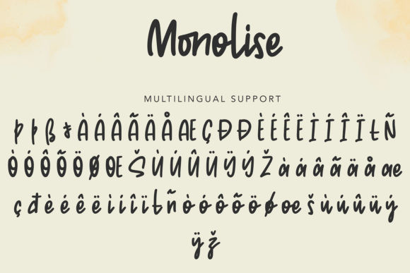 Monolise Font