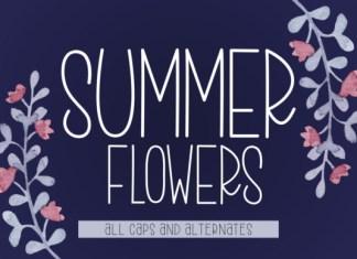Summer Flowers Font
