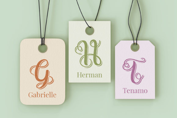 Swirly Letters Font