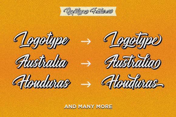 The Megatype Script Font